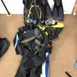 TUSAのレギュレーター・BCジャケット、INONの水中ライト、その他をお買取しました
